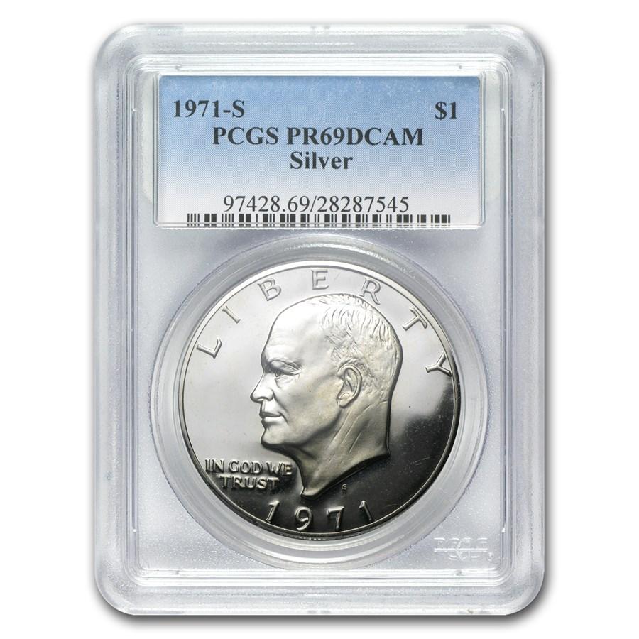 1971-S Silver Eisenhower Dollar PR-69 DCAM PCGS
