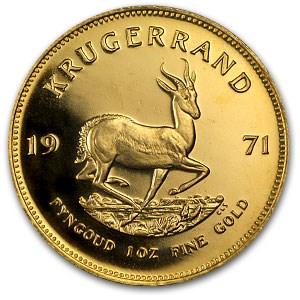 1971 South Africa 1 oz Proof Gold Krugerrand