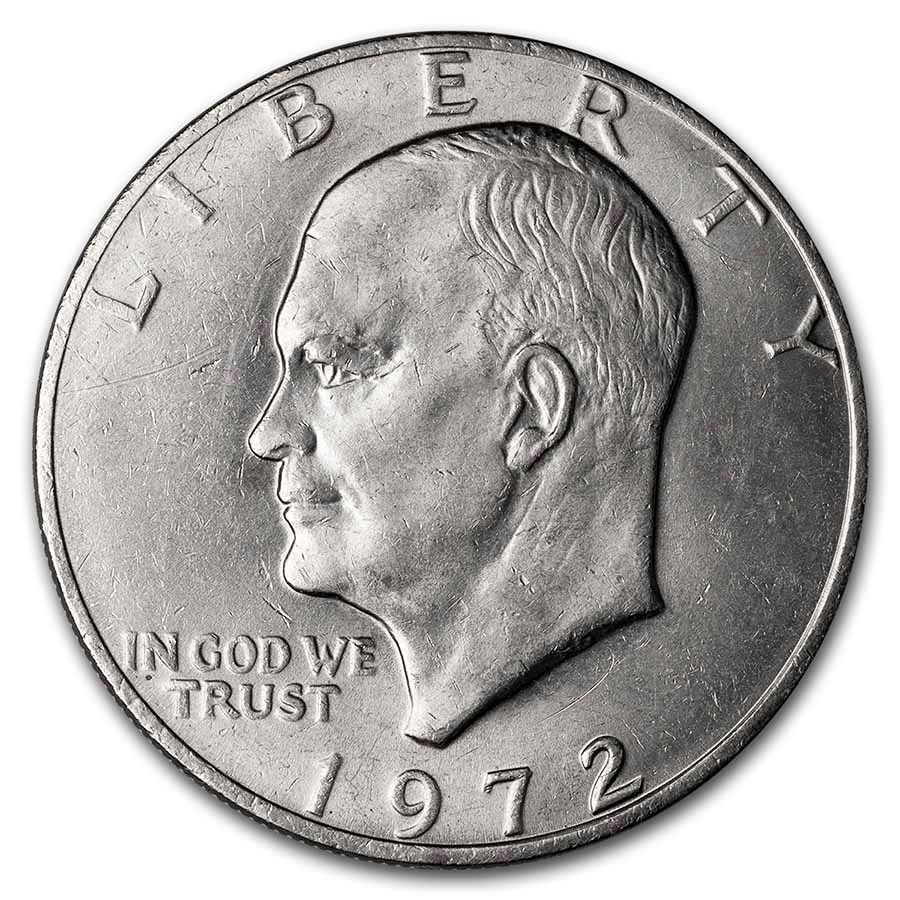 1972 Clad Eisenhower Dollar BU (Type 2)