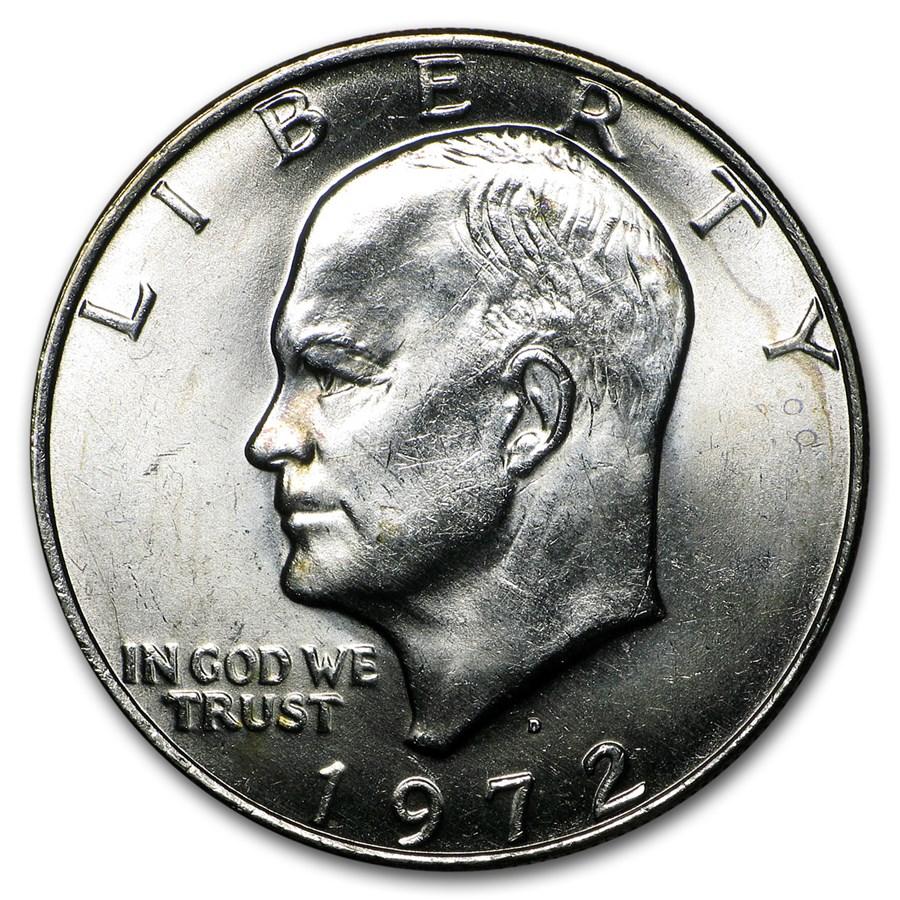 1972 Clad Eisenhower Dollar XF (Type 2)