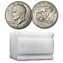 1972 Clad Eisenhower Dollars 20-Coin Roll BU