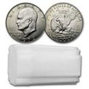 1972-D Clad Eisenhower Dollars 20-Coin Roll BU