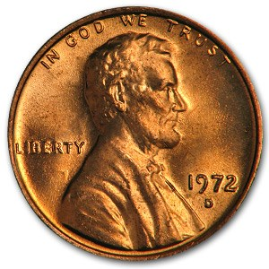 1972-D Lincoln Cent BU (Red)