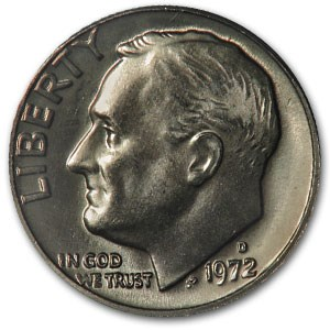 1972-D Roosevelt Dime BU