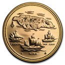 1972 Jamaica Proof Gold 20 Dollars 10th Anniv of Independence
