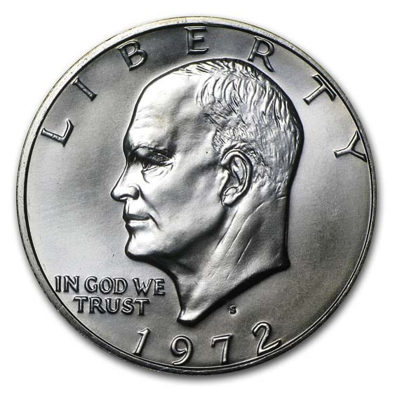 1972-S 40% Silver Eisenhower Dollar BU