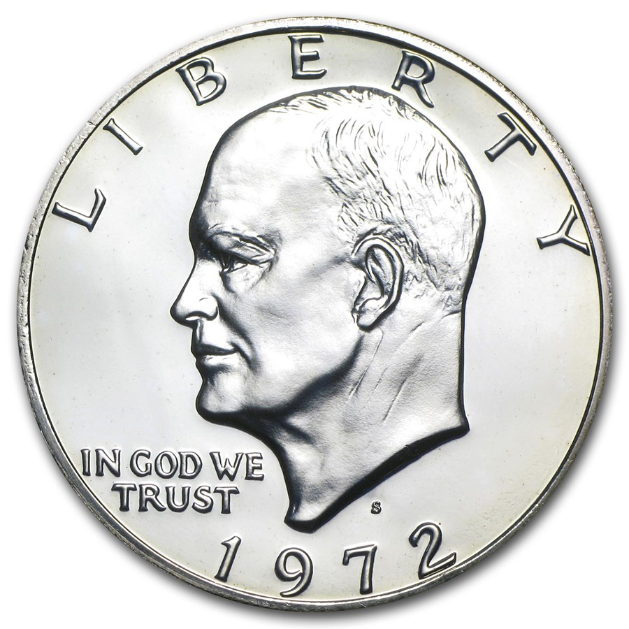 1972-S 40% Silver Eisenhower Dollar Gem Proof