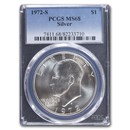 1972-S Eisenhower Silver Dollar MS-68 PCGS