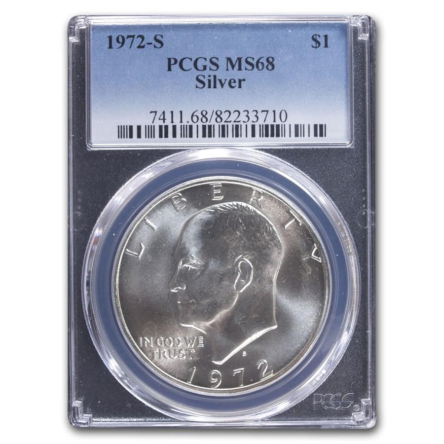 1972-S Eisenhower Silver Dollar MS-68 PCGS