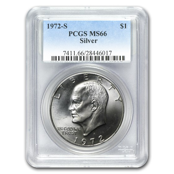 1972-S Silver Eisenhower Dollar MS-66 PCGS
