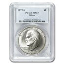 1972-S Silver Eisenhower Dollar MS-67 PCGS