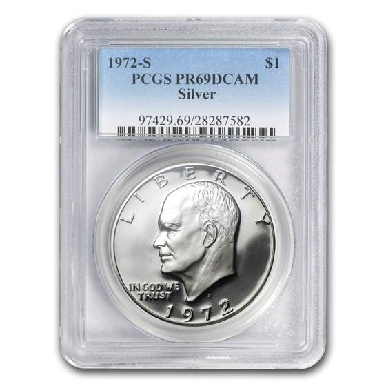 1972-S Silver Eisenhower Dollar PR-69 DCAM PCGS