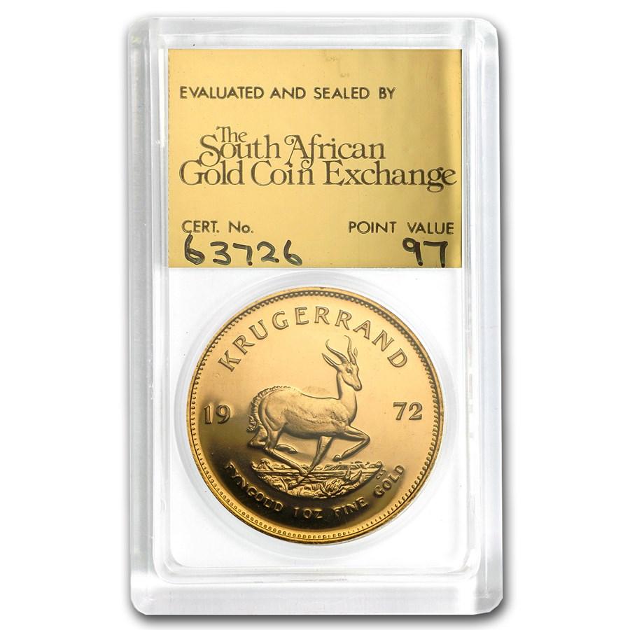 1972 South Africa 1 oz Proof Gold Krugerrand