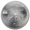 1973-1976 Canada Silver $5 Olympics BU/Proof (ASW .7227 oz)