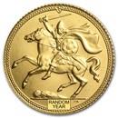1973-79 Isle of Man Gold 1/2 Sovereign BU (Random)