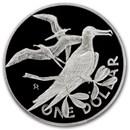 1973-84 British Virgin Islands Silver Dollar Birds BU/Proof