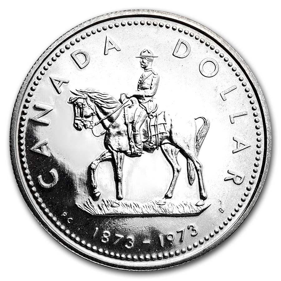 1973 Canada Silver Dollar Specimen (RCMP w/OGP)
