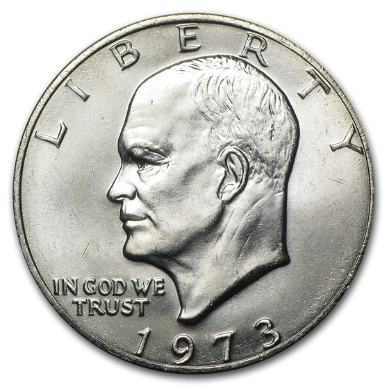 1973 Clad Eisenhower Dollar BU