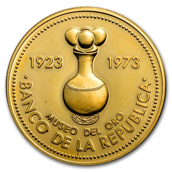 1973 Colombia Gold 1500 Pesos Gold Museum Bogota Proof