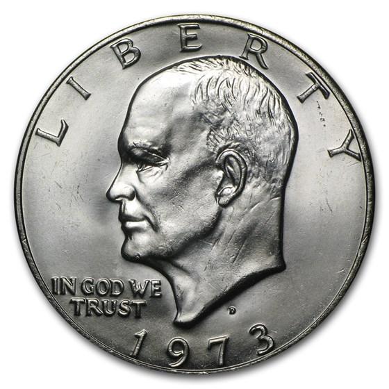 1973-D Clad Eisenhower Dollar BU