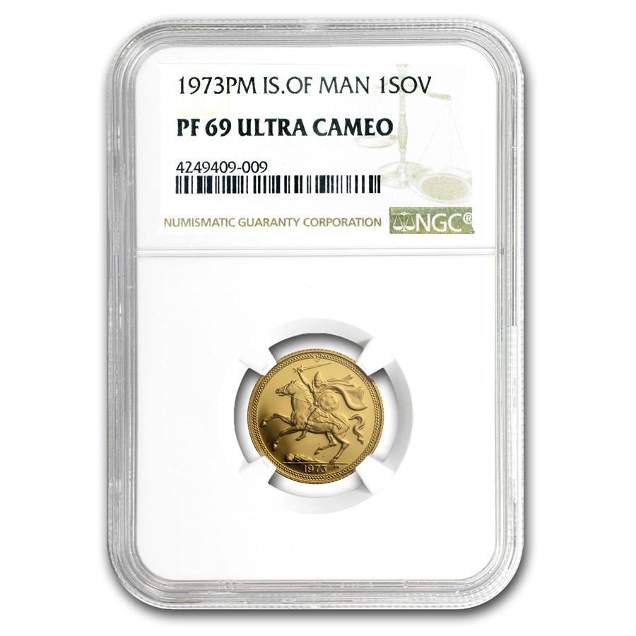1973 Isle of Man Gold Sovereign PF-69 NGC