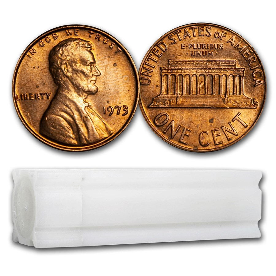 1973 Lincoln Cent 50-Coin Roll BU