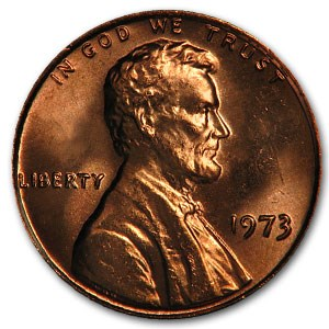 1973 Lincoln Cent BU (Red)