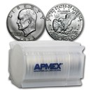 1973-S 40% Silver Eisenhower Dollar 20-Coin Roll BU