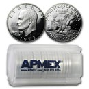 1973-S 40% Silver Eisenhower Dollar 20-Coin Roll Gem Proof
