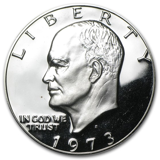 1973-S 40% Silver Eisenhower Dollar Gem Proof