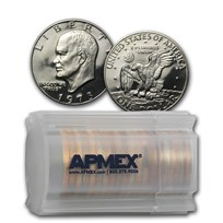 1973-S Clad Eisenhower Dollar 20-Coin Roll Gem Proof