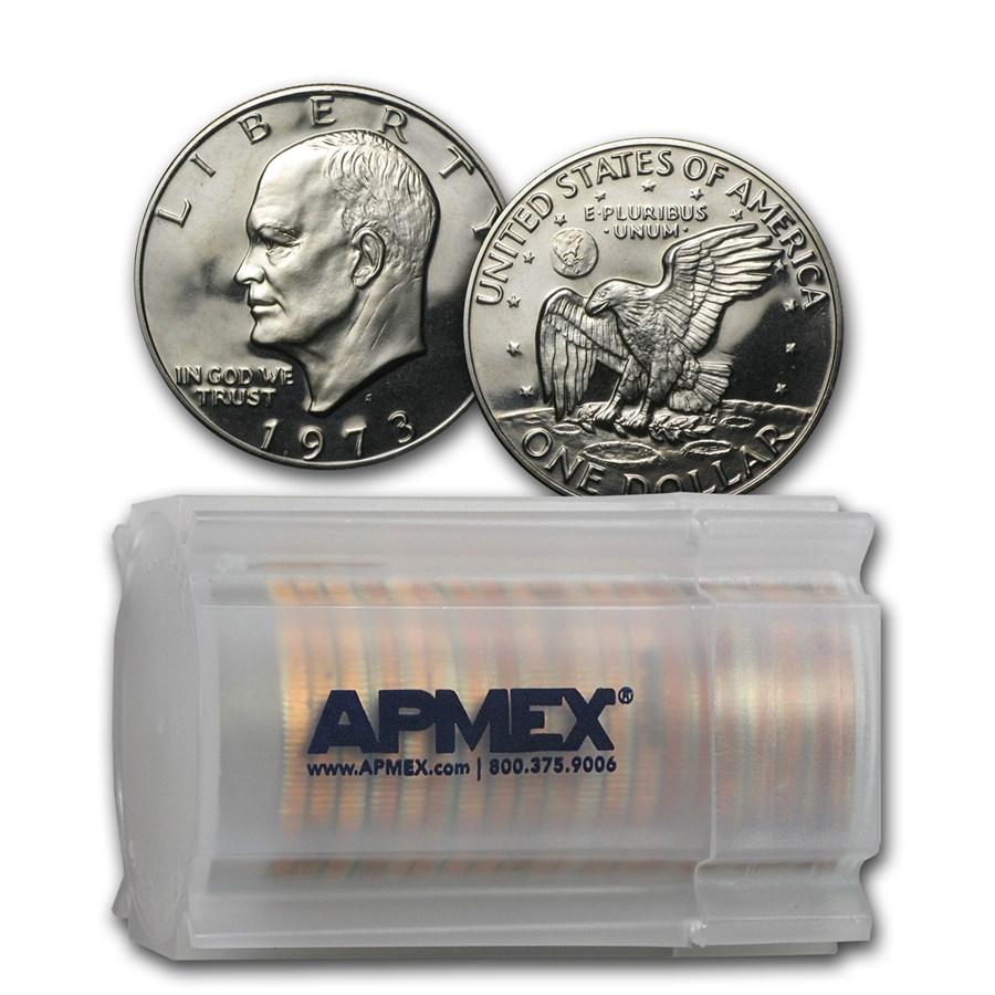 1973-S Clad Eisenhower Dollar 20-Coin Roll Gem Proof