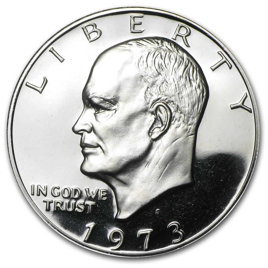 1973-S Clad Eisenhower Dollar Gem Proof