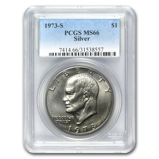 1973-S Silver Eisenhower Dollar MS-66 PCGS