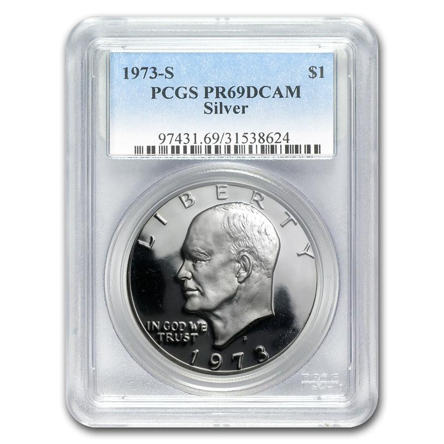 1973-S Silver Eisenhower Dollar PR-69 DCAM PCGS
