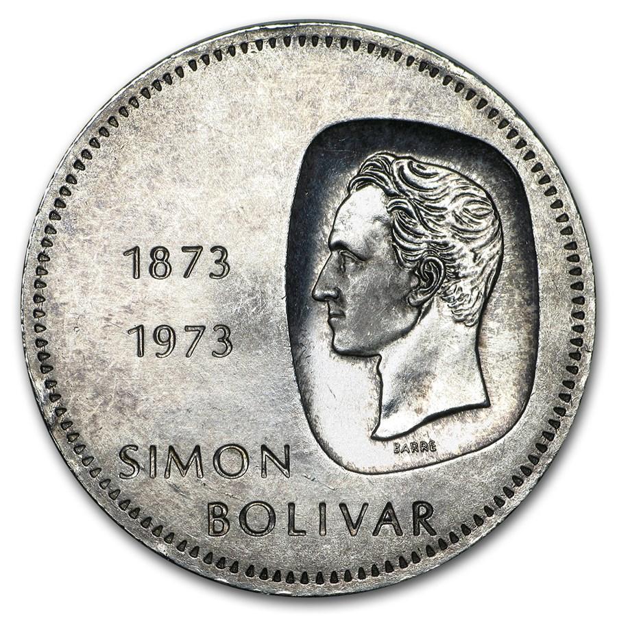 1973 Venezuela Silver 10 Bolivares