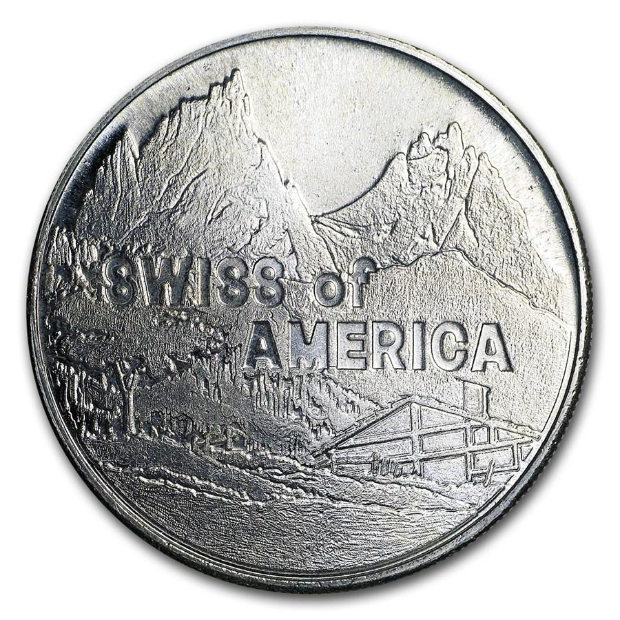 1974 1 oz Silver Round - Swiss of America (Draper Mint)