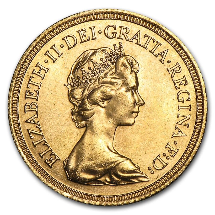 1974-1982 Great Britain Gold Sovereign Elizabeth II BU