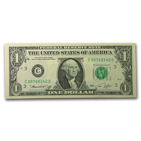 1974 (C-Philadelphia) $1.00 FRN CU (Fr#1908-C)