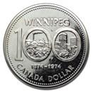 1974 Canada Nickel Dollar Winnipeg Centennial BU