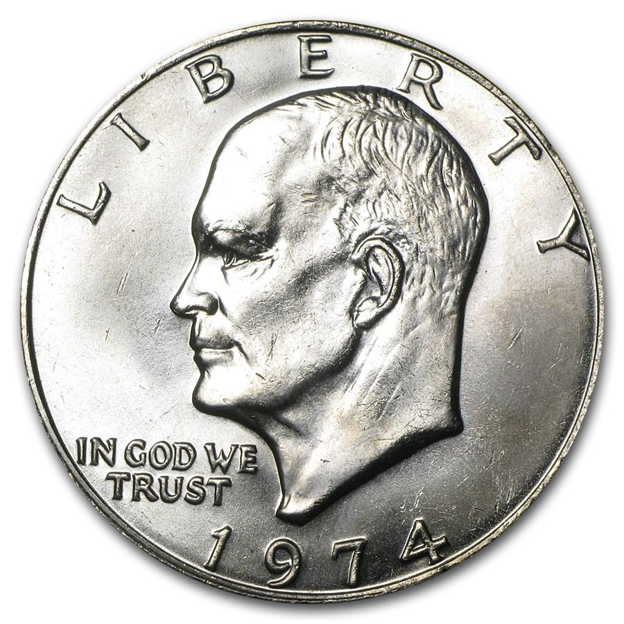1974 Clad Eisenhower Dollar BU