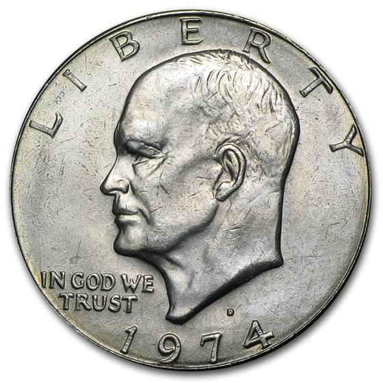 1974-D Clad Eisenhower Dollar BU