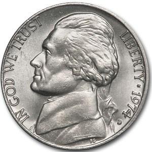1974-D Jefferson Nickel BU