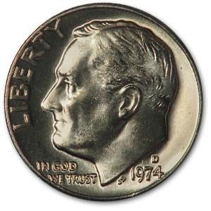 1974-D Roosevelt Dime BU