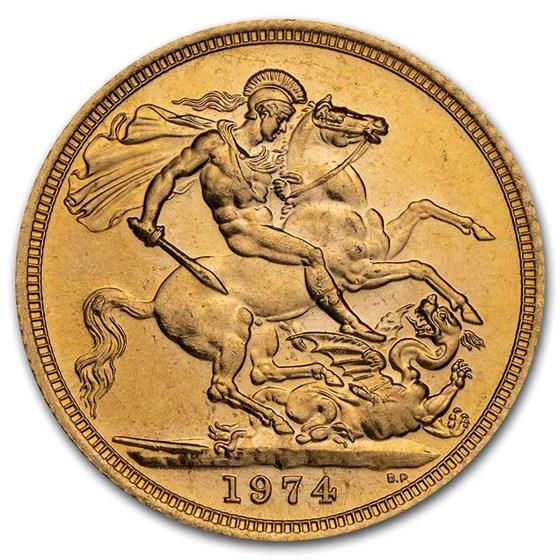 1974 Great Britain Gold Sovereign Elizabeth II BU