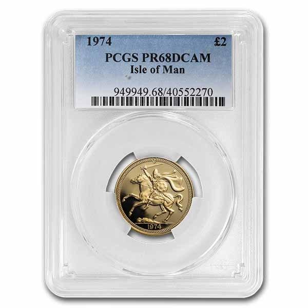 1974 Isle of Man Gold 2 Pounds PR-68 PCGS
