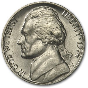 1974 Jefferson Nickel BU