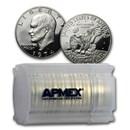 1974-S 40% Silver Eisenhower Dollar 20-Coin Roll Gem Proof