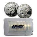 1974-S 40% Silver Eisenhower Dollar 20-Coin Roll Proof