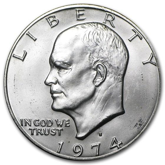 1974-S 40% Silver Eisenhower Dollar BU